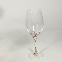 One Lenox crystal Water goblet Holiday Ribbon Christmas drinkware birthd... - $30.49
