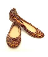 J. CREW Size 5.5 Patent Leopard Ballet Flats Shoes 5 1/2 - $44.00