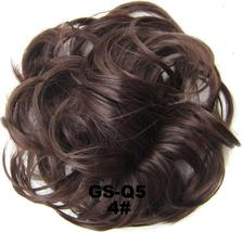 Natural Color Curly Messy Bun Hair Piece Scrunchie Hair Extension image 13