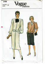 VOGUE PATTERNS 8799 MISSES TOP AND SKIRT SIZE 14 - $4.00