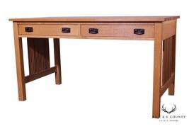 "Stickley Mission Collection Oak 54"" Spindle Library Desk (B) - $2,395.00"