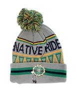 Native Pride Dream Catcher Cuffed Knit Winter Hat Pom Beanie (Light Gray) - $12.95