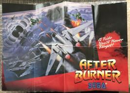 Vintage Sega Master System After Burner Promotional Poster - Original/Au... - $4.75