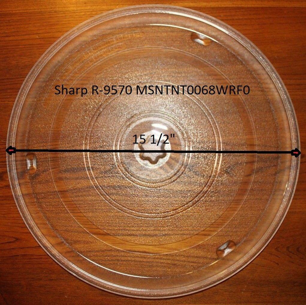 "15 1/2"" Sharp Carousel 2 Glass Turntable fits Oven Model R-9360 - $79.19"