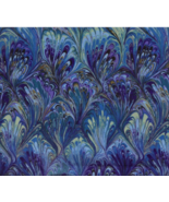 BTY Beautiful Blue Rainbow OIL SLICK 100% Cotton Quilt Crafting Fabric YARD - $10.00