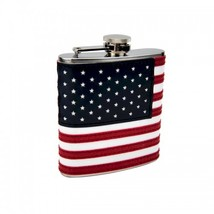 6 oz American Flag Hip Flask by Top Shelf - $10.53