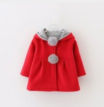 Cute Rabbit Ear Hooded Girls Coat New Spring Top Autumn Winter Warm Kids... - $24.99