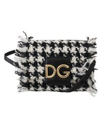 Women's Dolce & Gabbana Wool Leather Millennials Purse Black & White - £494.11 GBP