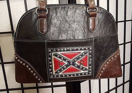 Vintage Country Road Leather Purse W/Studded General Lee Dukes Of Hazard Flag image 3