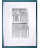 ARCHITECTURE PRINT 1873: ITALY Facade of Milan Hospital by Sforza - $13.46