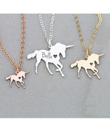 Cklace magical licorne women jewelry engrave some letters gift for mother s day accept thumbtall