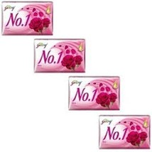Godrej No.1 Rosewater and Almonds Soap - 63 grams (2.2 oz) pack - with n... - $9.89