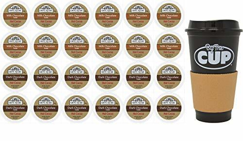 Grove Square Hot Cocoa K Cup Variety, Milk and Dark Cocoa, 12 of Each with By Th