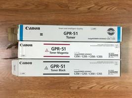 New- Open Box Canon GPR-51 CMK Toner iR Adv C250/C255/C350/C355 FedEx 2Day Air!! - $168.30