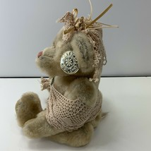 "Dan Dee Collectors Choice Tan10"" Teddy Bear With Crochet Hat Scarf Plush Stuffed - $10.99"