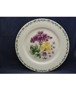 """Thomson Floral Garden 10.5"""" Dinner Plate with Purple & Yellow Flowers - $9.95"""