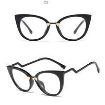 Ladies Optical Sexy Cat Eye Glasses Frames Women Brand Designer Eyeglasses Fashi image 14