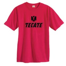 Tecate T-shirt Free Shipping Mexican beer cotton blend graphic printed red tee image 2