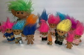 Lot 14 Assorted Trolls Vintage Trolls Figures Dolls Army Troll & More - $22.76