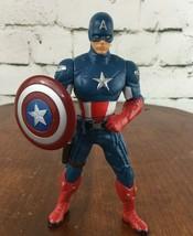 "Marvel Avengers Shield Spinning Captain America 6"" Action Figure Hasbro ... - $9.89"