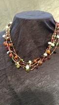 Glass Bead Beaded Necklace Multi Strand BoHo Gyspy Fashion Jewelry - $19.49