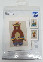 INDIAN TEDDY BEAR Greeting Cards VERUACO DIY Cross Stitch Kit PN-0155772... - $13.49