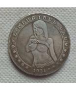 New Hobo Nickel Dollar Sexy Woman In Mardi Gras Topless Woman US Art Cas... - $9.49