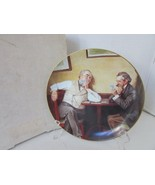 KNOWLES COLLECTOR PLATE BEST FRIENDS 4TH ROCKWELL'S GOLDEN MOMENTS BOXED 10799 - $4.90