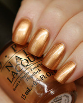 OPI Nordic OPI WITH A NICE FINN-ISH Gold Bronze Metallic Nail Polish Lac... - $8.44