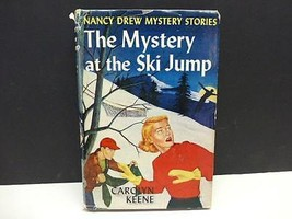 1952 THE MYSTERY AT THE SKI JUMP CAROLYN KEENE NANCY DREW HCDJ Book - $12.99