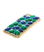 New In Package ICING Faux Sapphire & Emerald Stone Jeweled iPhone 6/7 Case - $8.90