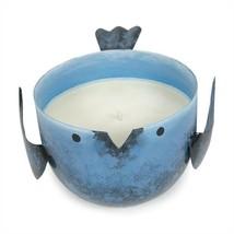 Coastal Water Candle In Blue Metal Birdie - $18.93