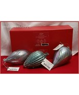 Lenox Iridescent Silver Blue Antique Glass Christmas Ornaments  New in Box - $44.55