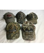 lot 5 camouflage camo  style Adjustable hat cap hunting camp - $23.36