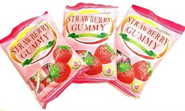 Cocon Strawberry Gummy  With Fruit Juice 3.52 oz ( Pack of 3 ) - $17.81