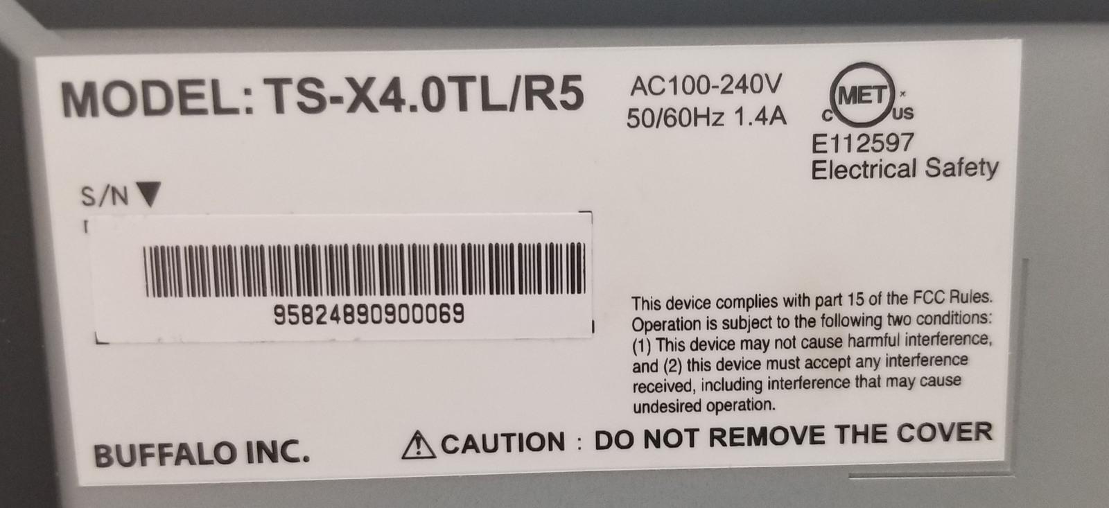 Buffalo TeraStation TS-X4.0TL/R5 4TB Capacity (Diskless) NAS Bin:1