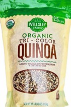 Wellsley Farms 100% USDA Organic Tri-Color Quinoa, 2.5 Pounds-set of 3 - $52.77