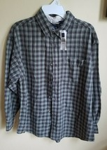 NWT Gap Kids Boys Large L Brown Olive Green Plaid Button-Front Shirt. - $8.69