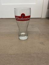 Budweiser Pint Beer Glass Classic ANHEUSER BUSCH Official Logo Tulip Shape - $12.00