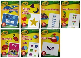 BENDON* 36pc CRAYOLA Language+Colors+Numbers FLASH CARDS Boxed *YOU CHOO... - $2.69