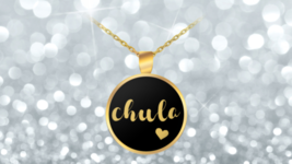 Chula Necklace Pendant Gold Plated - Spanish Cute Latina Gift Idea For Her - $28.75