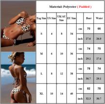 Summer Women's Leopard Beach Swimsuit Bikini Pushup Bandage Bathing Swimwear image 5