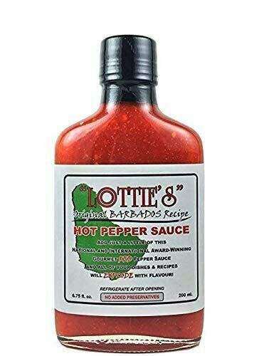 Primary image for Lottie's Original Barbados Red Hot Pepper Sauce, 6.75 ounes