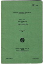 Specification For Fire Hydrants Canadian Standards Association 1958 - $7.53