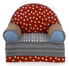 Cotton Tale Pirate's Cove Baby/Toddler Foam Chair, Stripes and Dots 100%... - $69.99