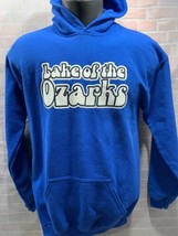 Lake Of The Ozarks Blue White Hoodie Jacket Youth Size Xl - $14.84