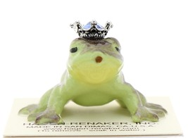 Hagen-Renaker Miniature Frog Prince Kissing Birthstone 09 September Sapphire image 1