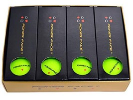 Poker Face M - Premium Matte Finish Color Distance Golf Balls Yellow Green