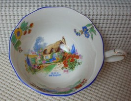 "Antique c1930's Royal Albert Crown China ""A BIT OF ENGLAND"" Tea Cup ""ONL... - $8.24"