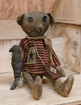 "Patriotic folk art primitive country decor Robert E. Bear Americana 17"" ... - $39.99"